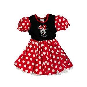 WALT DISNEY WORLD DISNEYLAND RESORT Minnie Mouse Short Sleeve Dress Costume Sz S